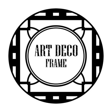 Art deco vintage badge frame in retro design vector illustration Illustration