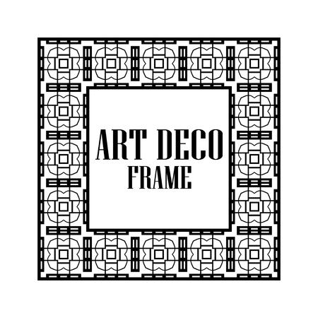 Art deco vintage border frame. Retro design template. Vector illustration