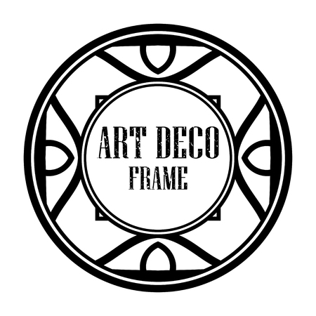 Art deco vintage badge frame in retro design vector illustration Ilustrace