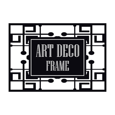 Vector geometric frame in Art Deco style. Abstract art deco vector element for design