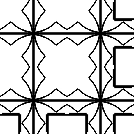 Vector modern geometric tiles pattern. Abstract geometric art deco seamless luxury background Vetores