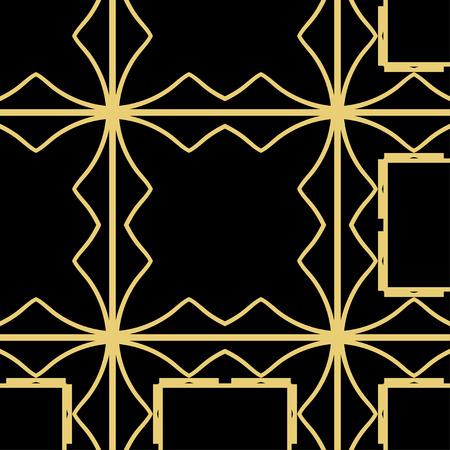 Vektor modernes geometrisches Fliesenmuster. Abstrakter geometrischer nahtloser Luxushintergrund des Art Deco