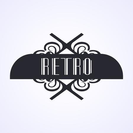 Modern art deco vintage badge logo design vector illustration Illustration