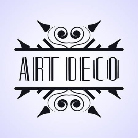 Vintage modern art deco frame design for labels, banner, logo, emblem, apparel, t- shirts, sticker, packaging of luxury products and other design objects