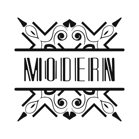 Luxury antique modern art deco monochrome hipster minimal geometric vintage vector frame , border , label for your logo, badge or crest for club, bar, cafe, restaurant, hotel, boutique, packaging of luxury products