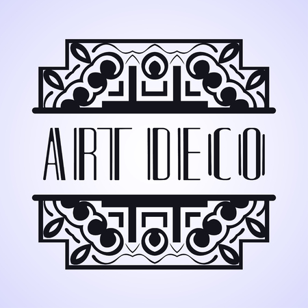 Luxury antique modern art deco monochrome hipster minimal geometric vintage vector frame , border , label for your logo, badge or crest for club, bar, cafe, restaurant, hotel, boutique, packaging of l  イラスト・ベクター素材
