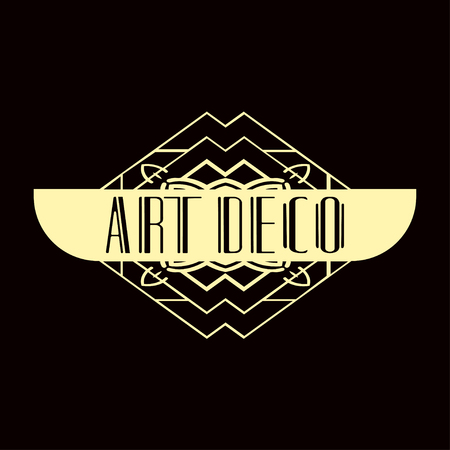 Modern art deco vintage badge logo design vector illustration Ilustrace