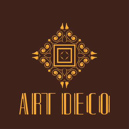 Vector geometric modern art deco style logo decoration