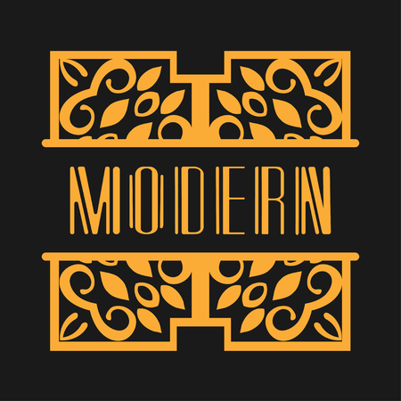 Luxury antique modern art deco monochrome geometric vintage vector frame, border , label for your logo, badge or crest for club, bar, cafe, restaurant, hotel, boutique, packaging of luxury products