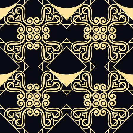 Seamless geometric modern art deco pattern background Illustration