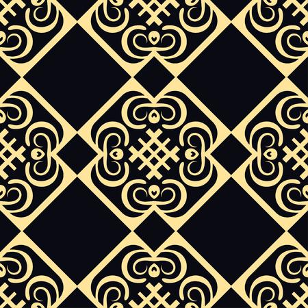 Vintage retro modern art deco ornamental seamless pattern