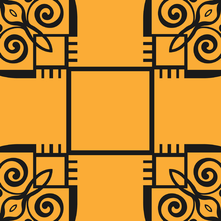 Abstract pattern in arabian style. Seamless vector background. Graphic modern art deco pattern