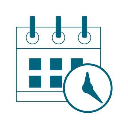 Date, calendar icon vector symbol. Business illustration