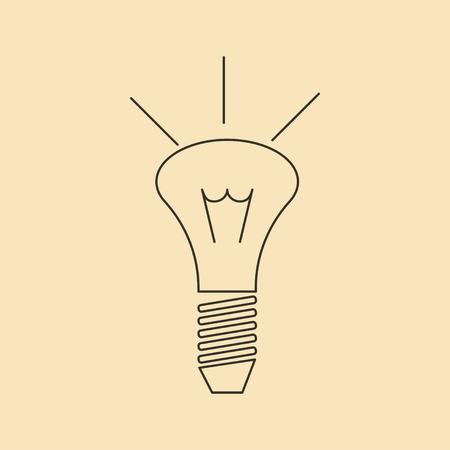 Bulb icon, idea icon, lighting design vector illustration