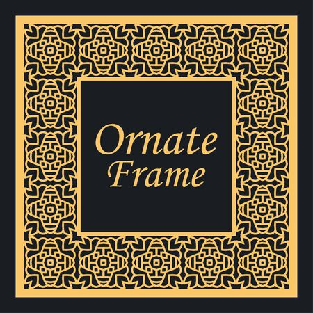 Decorative vintage modern art deco frame and border. Vector illustration Vettoriali