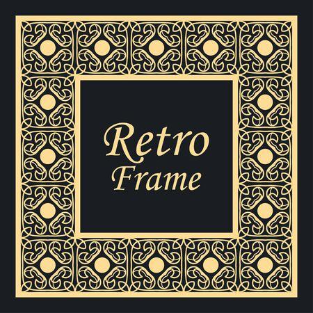 Decoratief vintage modern art deco frame en rand. vector illustratie Vector Illustratie