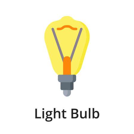Light Bulb flat vector illustration. Single object. Icon for design on white background