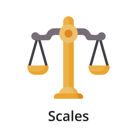 Scales flat vector illustration. Single object. Icon for design on white background