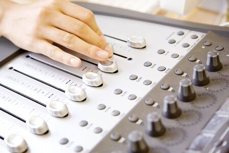 operates: Hand operates mixer