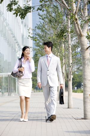 going out: Office workers going out for sales