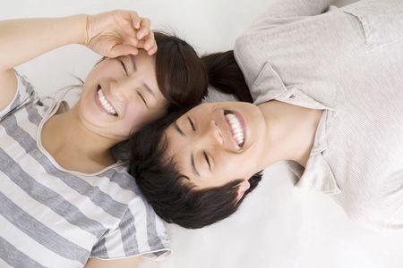 lies down: Sweetheart who lies down Stock Photo