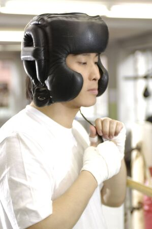 headgear: Boxer Stock Photo