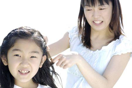 braiding: Braiding girl