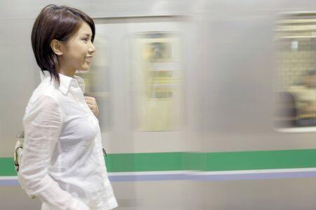 waits: Woman who waits for train