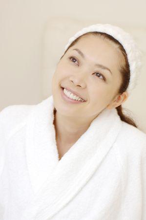 headbands: Mujer despu�s de tomar un ba�o