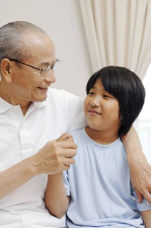 grandkids: Grandad and grandchild