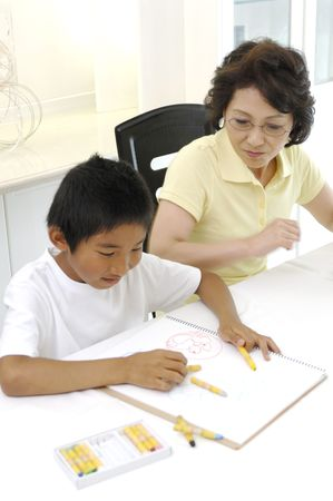sees: Grandma who sees drawing