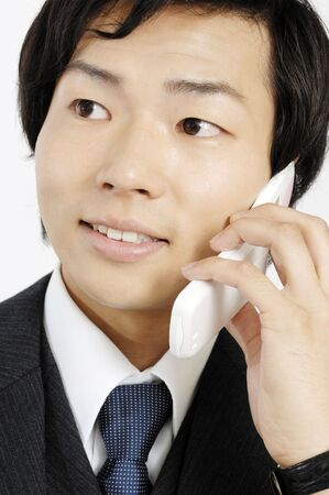 potable: Businessman talking with a cell phone