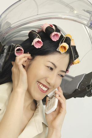 Woman to have a perm