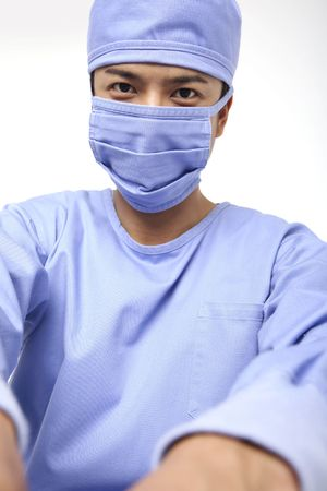 operation gown: Image of surgeon