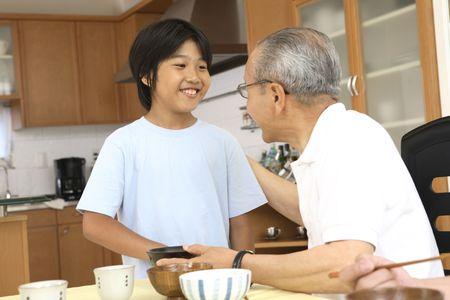 grandchild: Grandfather and a grandchild