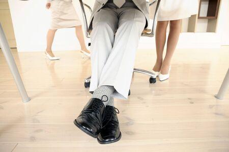 empleado de oficina: Pie de oficinista japon�s