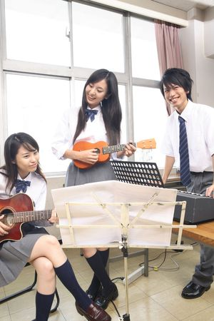 Light music club Stock Photo
