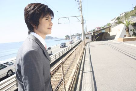 empleado de oficina: Image of Japanese office worker