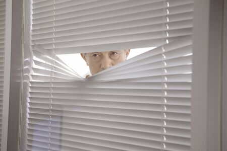 window shade: President looking in the room from a window shade