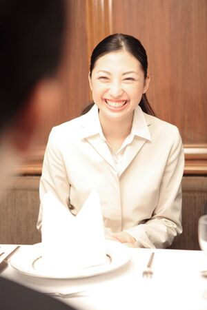 sales person: Smiling Japanese office lady