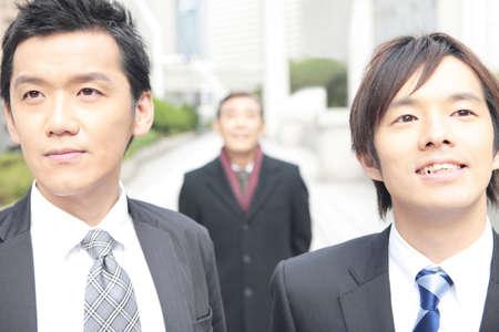 empleado de oficina: Retrato de oficinista japon�s Foto de archivo