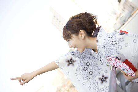 unlined: Japanese girl wearing yukata