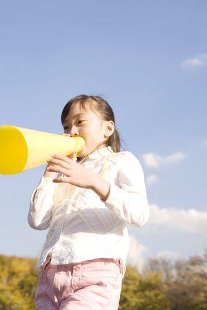 Japanese girl shouting