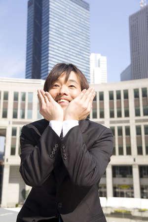 b�roangestellte: L�chelnde japanische B�roangestellte