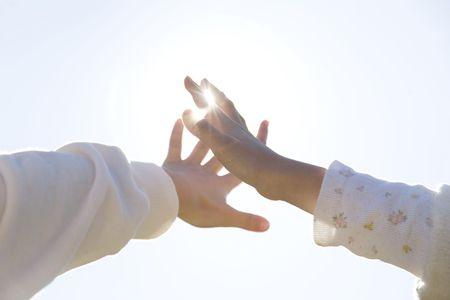 japanese children: Hands of Japanese children
