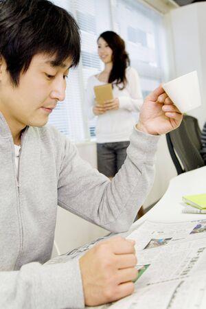 日本のサラリーマンの肖像画