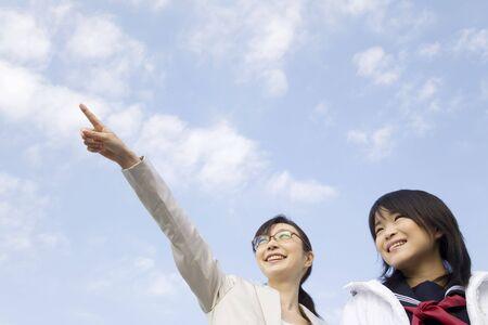 schoolroom: Japanese junior high school girl and her private teacher