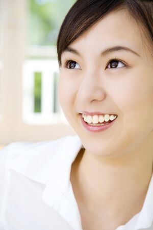 japanes: Smiling woman Stock Photo