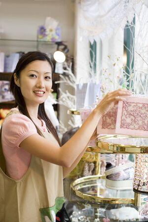 sales person: Woman salesclerk