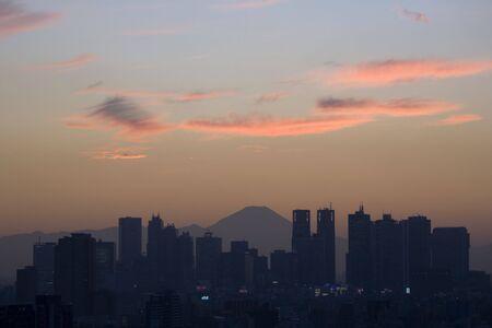 civic: Mount Fuji and Civic Center Stock Photo